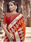 Beads Work Designer Traditional Saree For Festival - 1