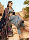 Satin Georgette Embroidered Work Pant Style Pakistani Suit - 2