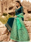 Satin Georgette Pant Style Pakistani Suit For Festival - 2
