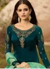 Satin Georgette Pant Style Pakistani Suit For Festival - 1