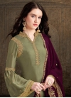 Embroidered Work Designer Palazzo Suit - 1