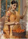 Embroidered Work Banarasi Silk Designer Contemporary Style Saree - 1