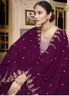 Mauve and Purple Palazzo Designer Salwar Suit For Party - 1