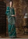 Embroidered Work Silk Trendy Classic Saree - 2