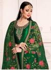Satin Georgette Trendy Churidar Salwar Kameez - 1
