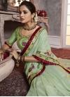 Embroidered Work Art Silk Trendy Saree - 1