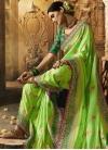 Beads Work Art Silk Traditional Designer Saree For Bridal - 1