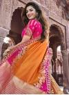 Beads Work Silk Orange and Rose Pink Trendy A Line Lehenga Choli - 2