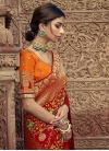Beads Work Designer Contemporary Saree - 1