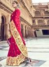 Banarasi Silk Thread Work Fuchsia and Orange Traditional Designer Saree - 1
