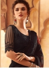 Black and Maroon Satin Georgette Traditional Saree - 1