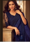 Blue and Navy Blue Contemporary Style Saree For Festival - 1