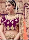 Embroidered Work Velvet Trendy Lehenga Choli - 1