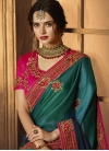 Beads Work Art Silk Designer Traditional Saree For Ceremonial - 1