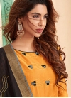 Embroidered Work Trendy Churidar Suit - 1