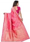 Art Silk Woven Work Designer Contemporary Style Saree - 1