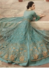 Art Silk Floor Length Anarkali Salwar Suit For Festival - 2