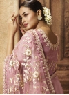 Net Embroidered Work Classic Saree - 1