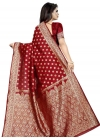 Thread Work Designer Contemporary Style Saree - 1