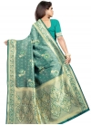 Art Silk Thread Work Traditional Saree - 1