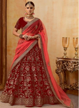 A Line Lehenga Choli For Bridal