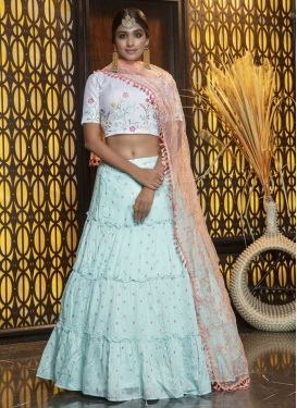 A Line Lehenga Choli For Festival