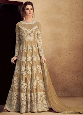 Aari Work Art Silk Long Length Anarkali Salwar Suit