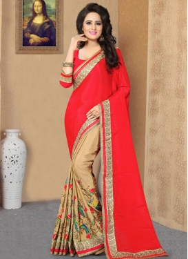 Aari Work Half N Half Saree