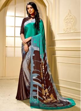 Absorbing Printed Multi Colour Trendy Saree
