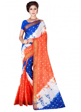 Abstract Print Work Classic Saree