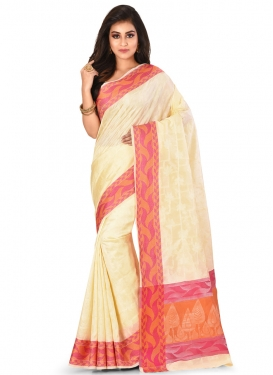 Abstract Print Work Contemporary Style Saree For Festival
