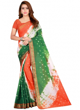 Abstract Print Work Designer Contemporary Style Saree