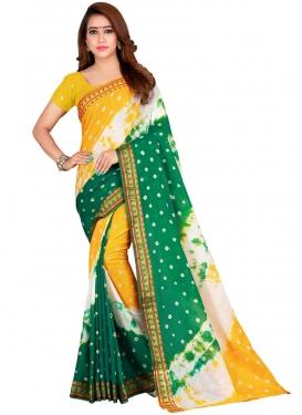 Abstract Print Work Designer Traditional Saree