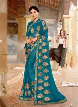 Affectionate Resham Ceremonial Classic Designer Saree