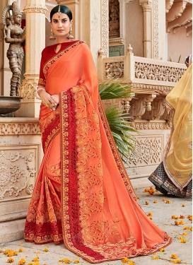 Affectionate Satin Silk Festival Traditional Saree
