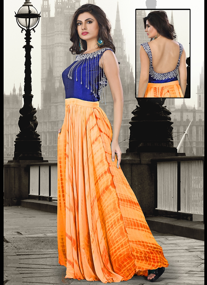 Alluring Pure Georgette Party Wear Readymade Gown