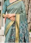 Amazing Art Silk Cotton Aqua Blue Traditional Saree - 1