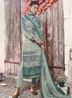 Aqua Blue and Beige Pant Style Pakistani Salwar Kameez For Festival