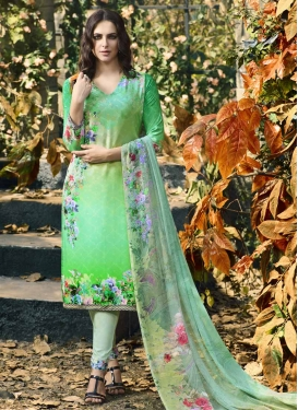 Aqua Blue and Mint Green Pant Style Pakistani Salwar Kameez