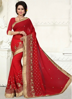Aristocratic Faux Georgette Party Wear Saree