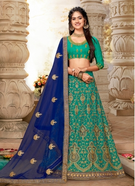Arresting Embroidered Art Silk Lehenga Choli