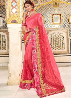 Arresting Embroidered Classic Designer Saree