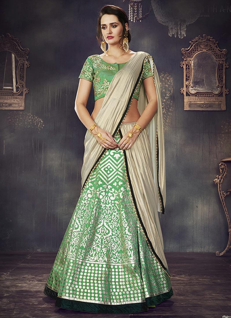 Art Dupion Silk Trendy Lehenga Choli