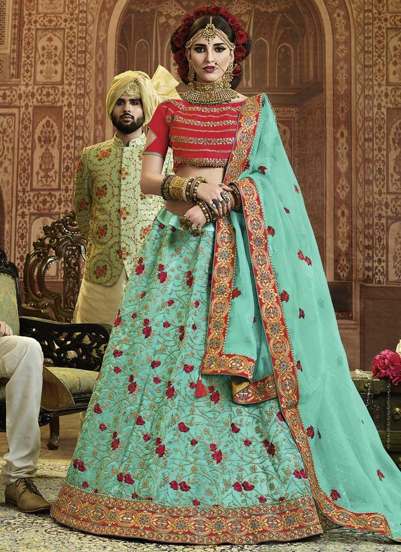 Art Silk A Line Lehenga Choli For Ceremonial