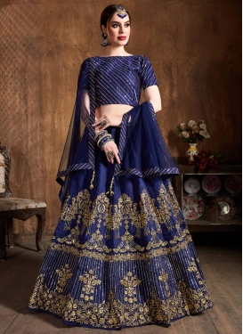 Art Silk A - Line Lehenga For Festival