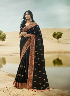 Art Silk Black Traditional Saree