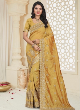 Art Silk Booti Work Designer Contemporary Style Saree