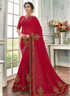 Art Silk Booti Work Trendy Classic Saree