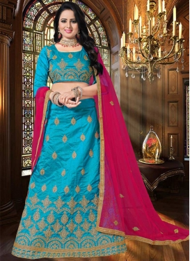 Art Silk Booti Work Trendy Lehenga Choli