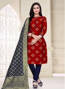 Art Silk Churidar Salwar Kameez For Casual